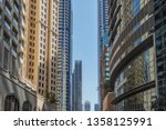 view from below of dubai... | Shutterstock . vector #1358125991