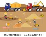 a children's style illustration ...   Shutterstock .eps vector #1358128454