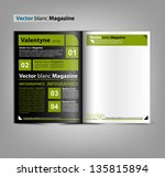 vector blank magazine for your... | Shutterstock .eps vector #135815894