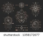 vector set of sacred geometric... | Shutterstock .eps vector #1358172077