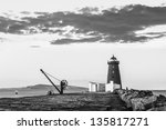 Davit And Lighthouse On A...
