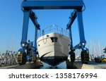 Luxury Motor Yacht Lifted By A...