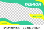 modern fashion beauty banner... | Shutterstock .eps vector #1358189834