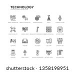 set of 20 line icons such as no ... | Shutterstock .eps vector #1358198951