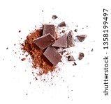 Cocoa Powder And Pieces Of Dark ...