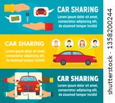 car sharing banner set. flat... | Shutterstock .eps vector #1358200244