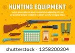 modern hunter equipment concept ...   Shutterstock .eps vector #1358200304