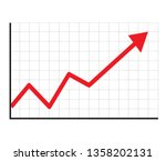 trend up graph icon in trendy...