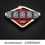 retro icon   signboard   vector ... | Shutterstock .eps vector #135820601