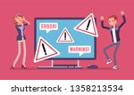 pc error and warnings for users.... | Shutterstock .eps vector #1358213534