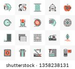 flat line icons set of sci fi... | Shutterstock .eps vector #1358238131