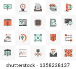 flat line icons set of... | Shutterstock .eps vector #1358238137