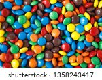 Colored Smarties As A Background