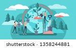 reforestation vector... | Shutterstock .eps vector #1358244881