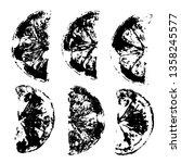 lemons imprints. fruits stamps. ...   Shutterstock .eps vector #1358245577