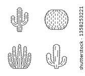 wild cactus linear icons set.... | Shutterstock .eps vector #1358253221