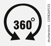 icons 360 degree rotation ... | Shutterstock .eps vector #1358269151