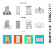 isolated object of municipal...   Shutterstock .eps vector #1358271644