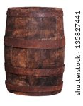 Old Wine Barrel Made Of Wood