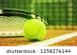 tennis game. tennis ball and... | Shutterstock . vector #1358276144