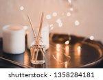 liquid home fragrance in aroma... | Shutterstock . vector #1358284181