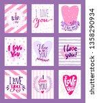 happy valentines day vector... | Shutterstock .eps vector #1358290934