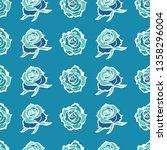 vector seamless floral pattern... | Shutterstock .eps vector #1358296004