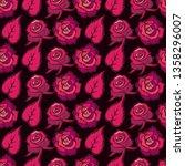 vector seamless floral pattern... | Shutterstock .eps vector #1358296007