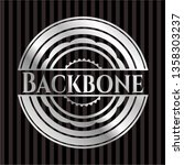 backbone silver badge or emblem | Shutterstock .eps vector #1358303237