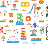cartoon aquapark playground... | Shutterstock .eps vector #1358320034