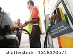 23 march 2019. petrol station... | Shutterstock . vector #1358320571