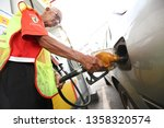 23 march 2019. petrol station... | Shutterstock . vector #1358320574