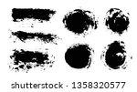 brush strokes. vector...   Shutterstock .eps vector #1358320577