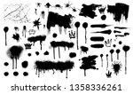 spray graffiti stencil template.... | Shutterstock .eps vector #1358336261