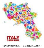 mosaic campania region map of...   Shutterstock .eps vector #1358346254