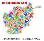 mosaic afghanistan map of... | Shutterstock .eps vector #1358347937