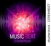 Music Beat Vector. Purple...
