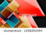 squares and triangles...   Shutterstock .eps vector #1358352494