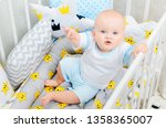 bed linen for baby . a small...   Shutterstock . vector #1358365007
