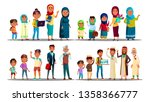 moslem vector. arabic moslem...   Shutterstock .eps vector #1358366777
