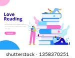 people who love to read.... | Shutterstock .eps vector #1358370251