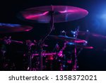professional drumkit on stage... | Shutterstock . vector #1358372021