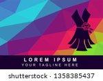 vector illustration rainbow... | Shutterstock .eps vector #1358385437