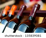 bottles of wine shot with... | Shutterstock . vector #135839081