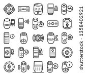 smart speaker icons set.... | Shutterstock .eps vector #1358402921