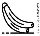 banana bunch icon. outline... | Shutterstock .eps vector #1358403371