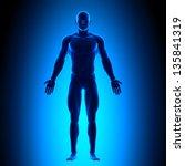 full body   front view blue...   Shutterstock . vector #135841319