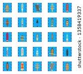 bay icons set. isometric set of ... | Shutterstock .eps vector #1358419337