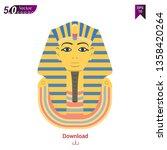 golden funerary mask  bust of... | Shutterstock .eps vector #1358420264