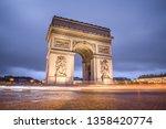 arc of triumph   Shutterstock . vector #1358420774